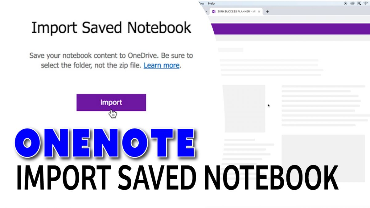 Importing Notebook into OneNote