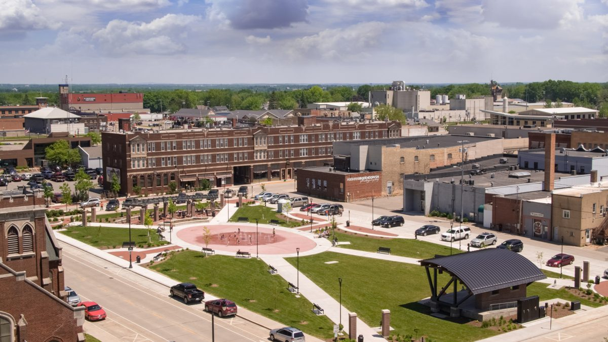 Wenzel Family Plaza Aerial Photography