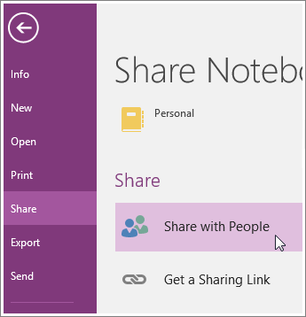 Share OneNote Notebook with Others in Windows