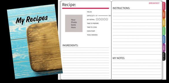 digital recipe book