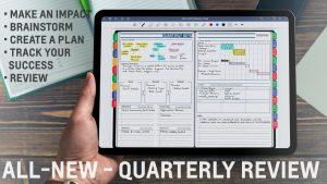 iPad Quarterly Digital Planning