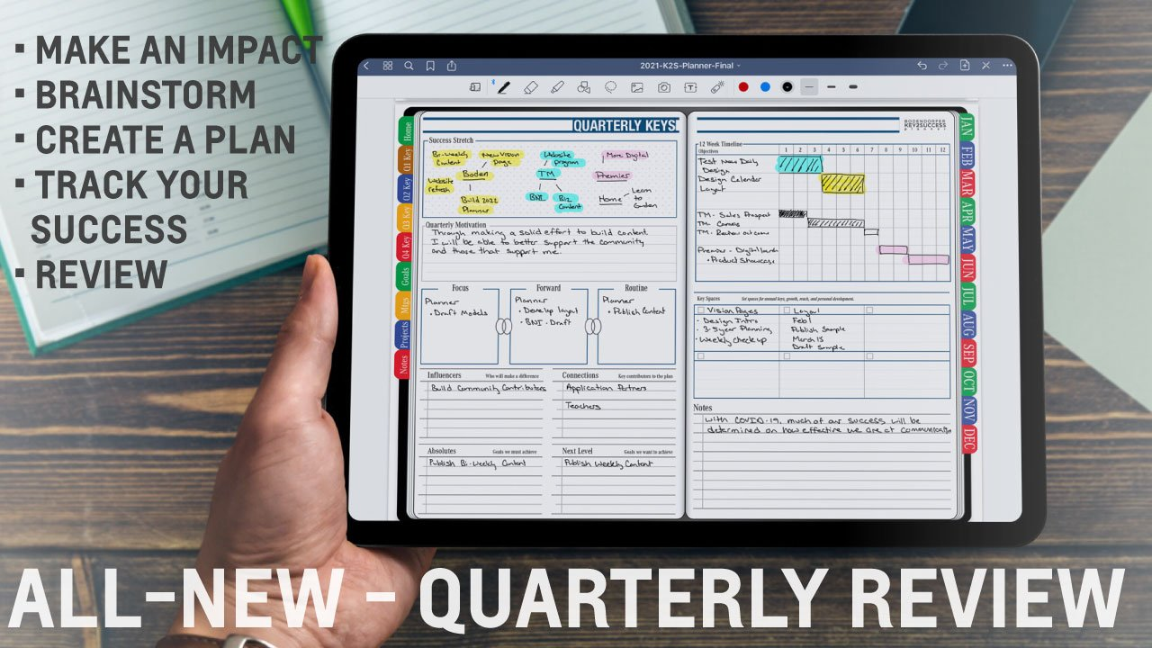 iPad Quarterly Digital Planning