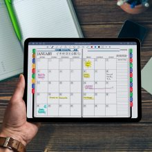 GoodNotes Monthly Planner