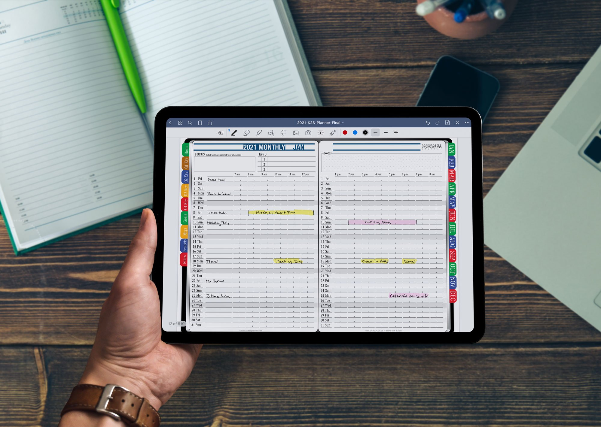 2021 Monthly Digital Planner