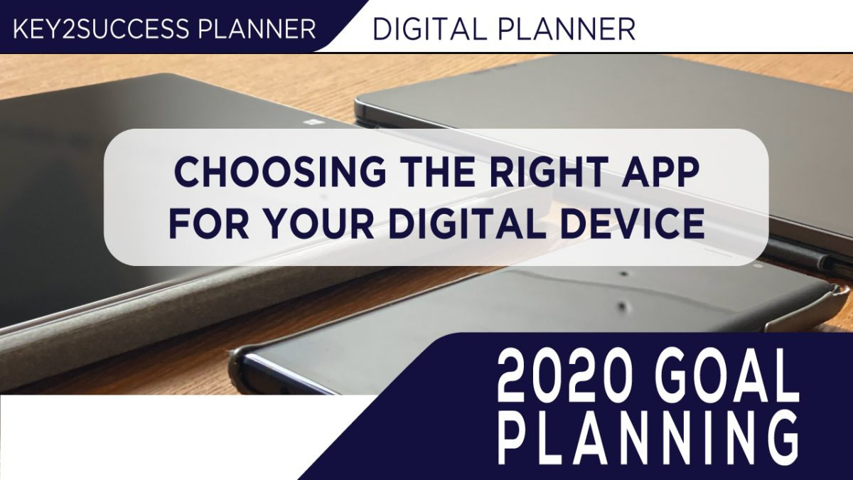 Choosing the Right Application for your Digital Planner