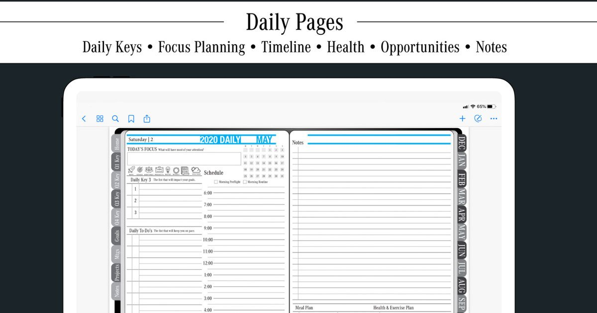Key2Success Digital Planner – Daily Keys for Success