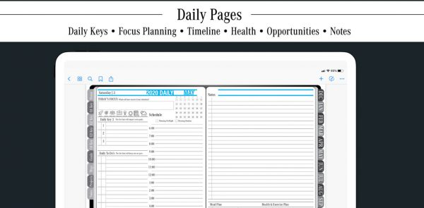 Key2Success Digital Planner Daily View
