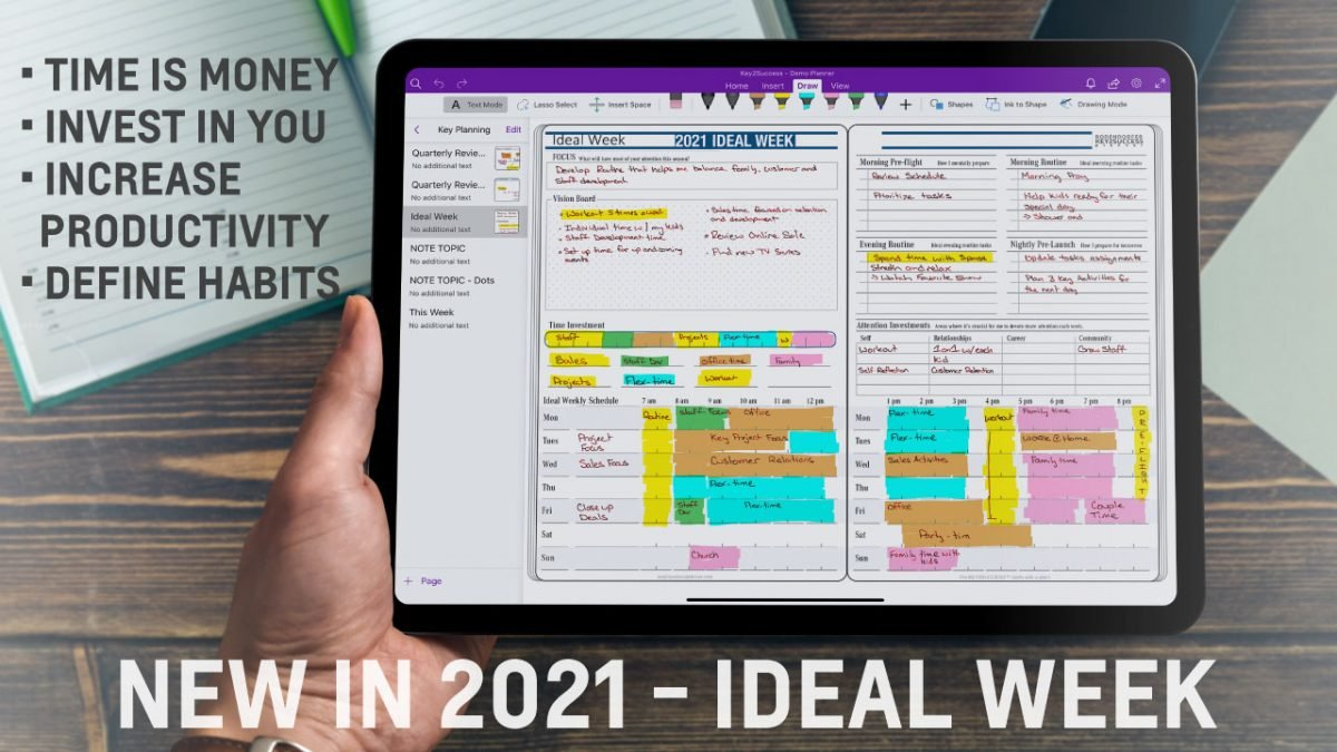 Ideal Week Page in OneNote