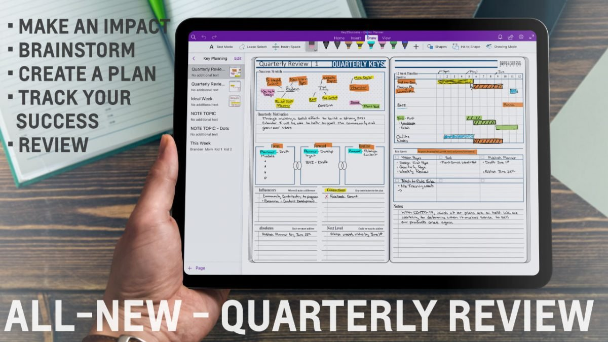 Use Quarterly Review Pages to Achieve Digital Planning Success