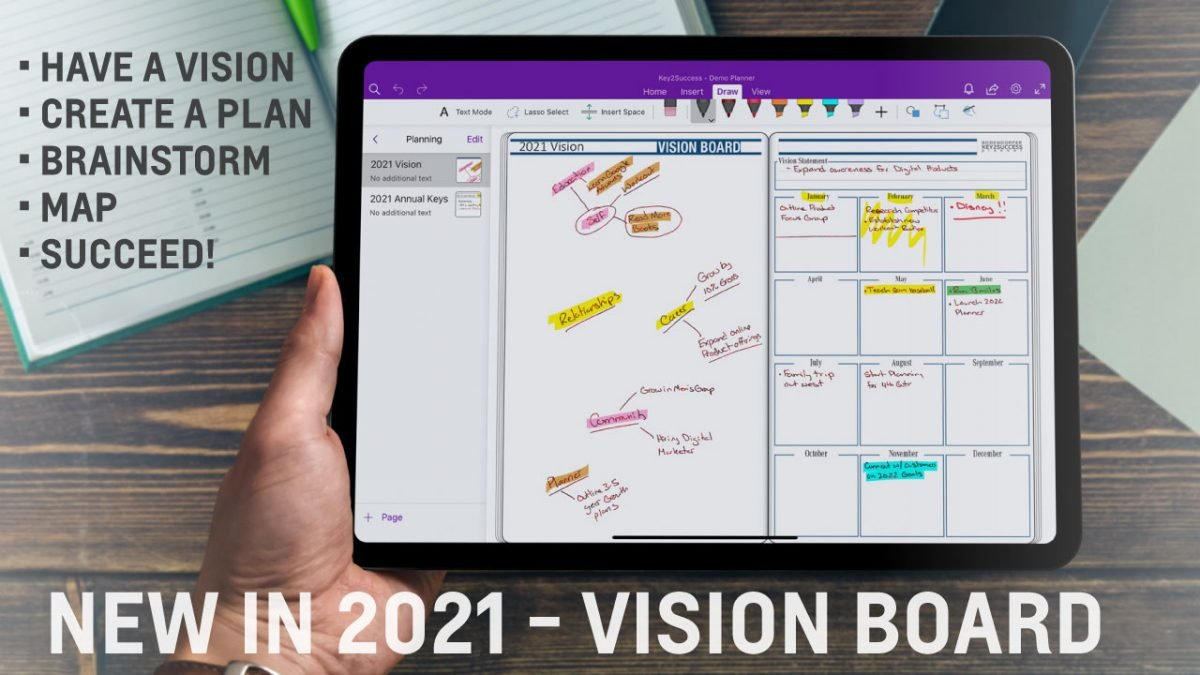 Vision Board in OneNote