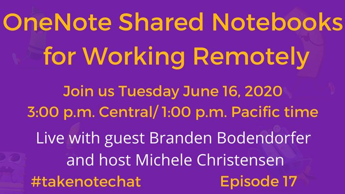 """Branden Bodendorfer Guest Podcasts on """"Take Note Chat with Michele Christensen"""""""