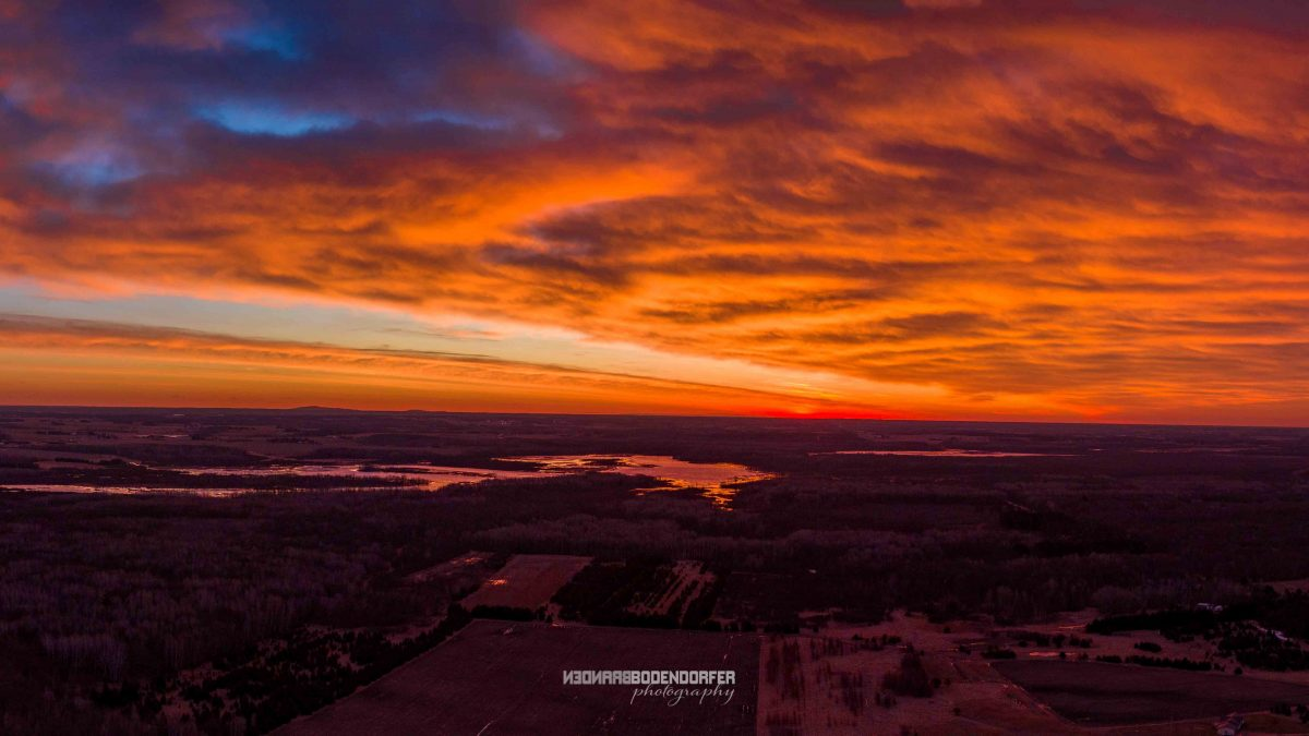 Marshfield Drone Photography of Sunrise over McMillan Marsh