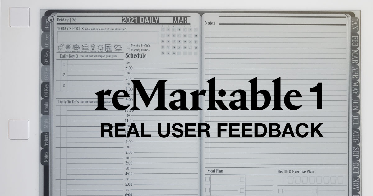 reMarkable 1 Users Review Digital Planner