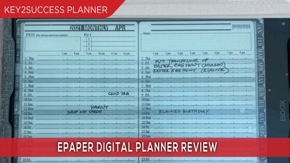 epaper digital planner review on boox