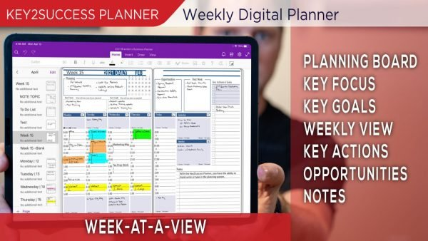 Weekly At A View Planning Page