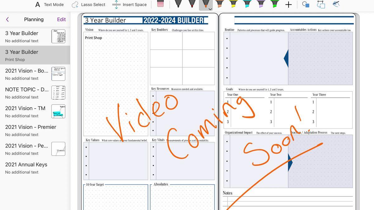 2022 Digital Planner Update