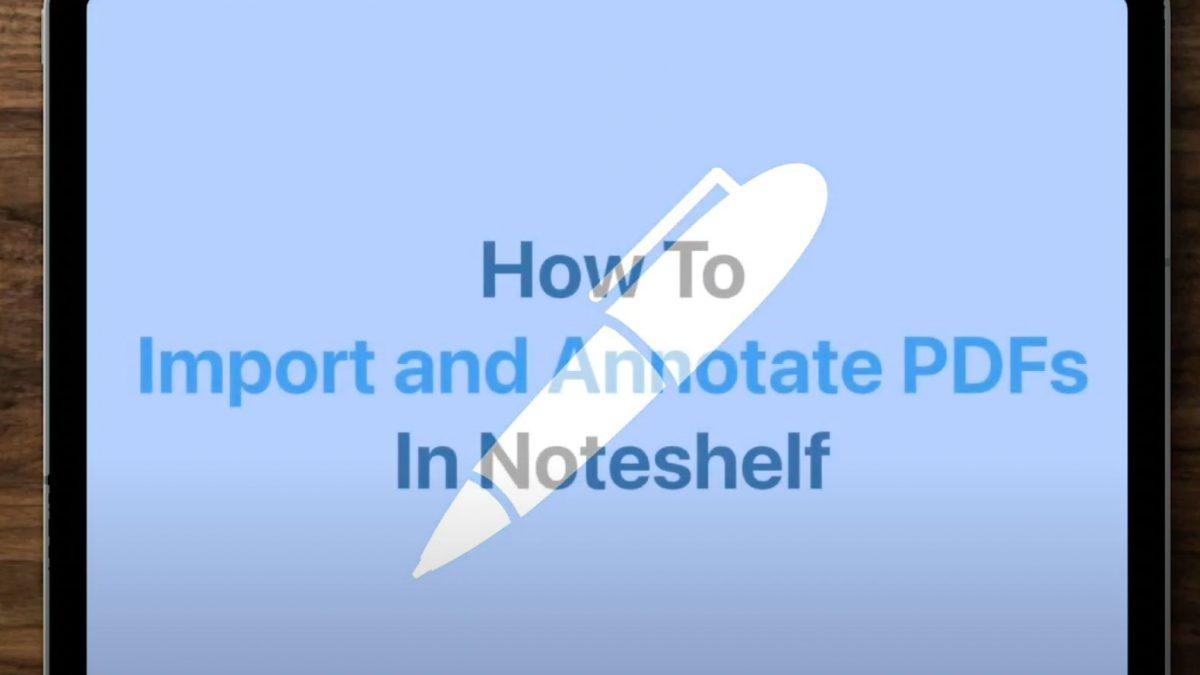How to Import a PDF into Noteshelf