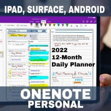 Product-2022-OneNote-Personal-Digital-Planner