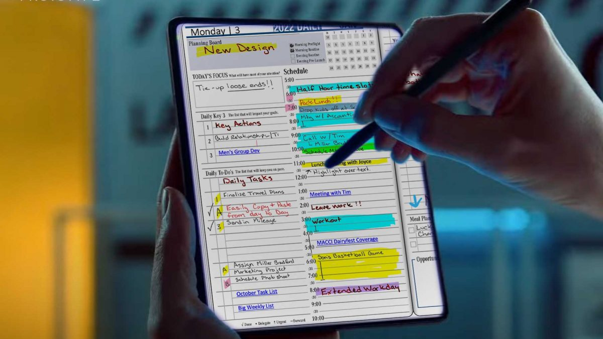 Will the New Galaxy Z Fold3 be a Great Digital Planning Tool